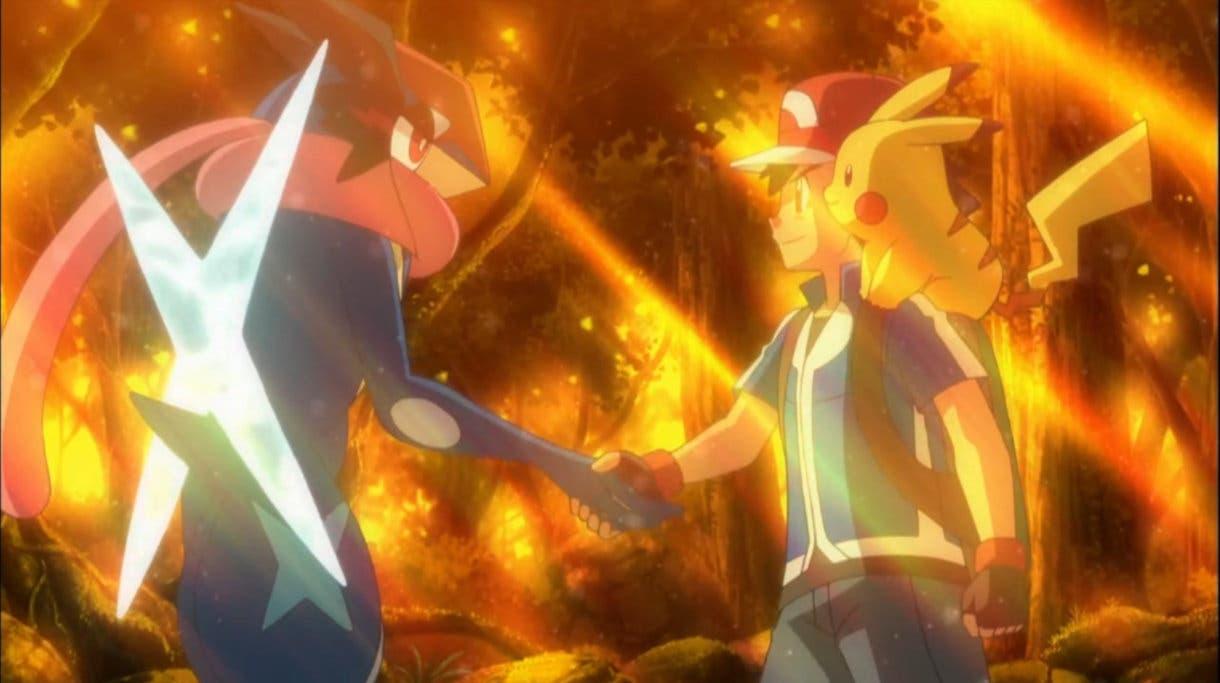 Ash y Greninja despedida 1