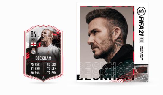 David Beckham versión free to play FIFA 21 Ultimate Team