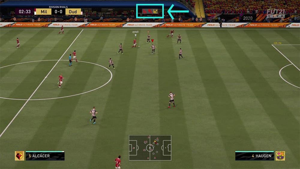 FIFA 21 Ultimate Team indicadores de conexión en tiempo real