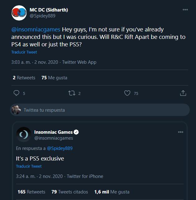 No, Ratchet & Clank: Una Dimensión Aparte no estará en otra consola que no sea PS5