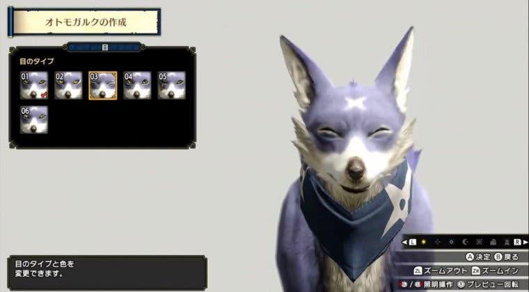 Imagen de Monster Hunter Rise muestra la personalización de los Palicos y los Palamutes