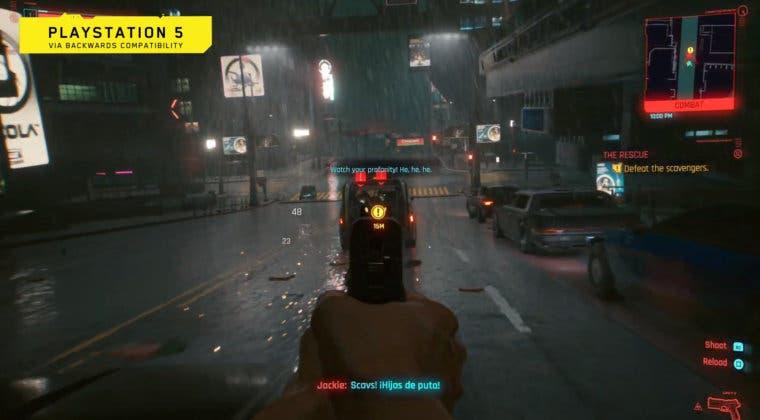 Imagen de Cyberpunk 2077 se muestra en un gameplay oficial de PS5 y PS4 Pro