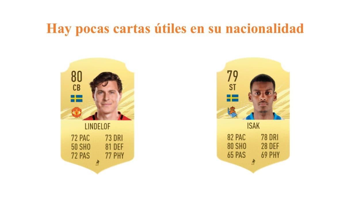FIFA 21 Ultimate Team Forsberg Moments links naranjas