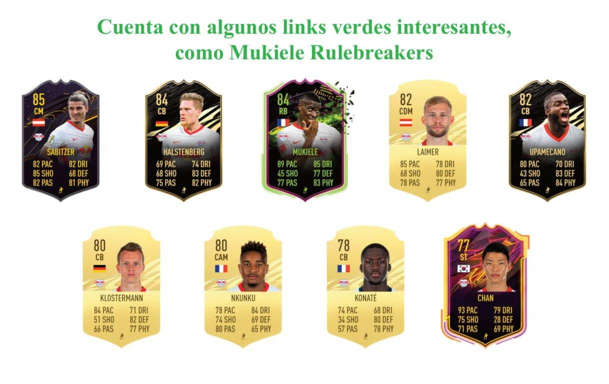 FIFA 21 Ultimate Team Forsberg Moments links verdes