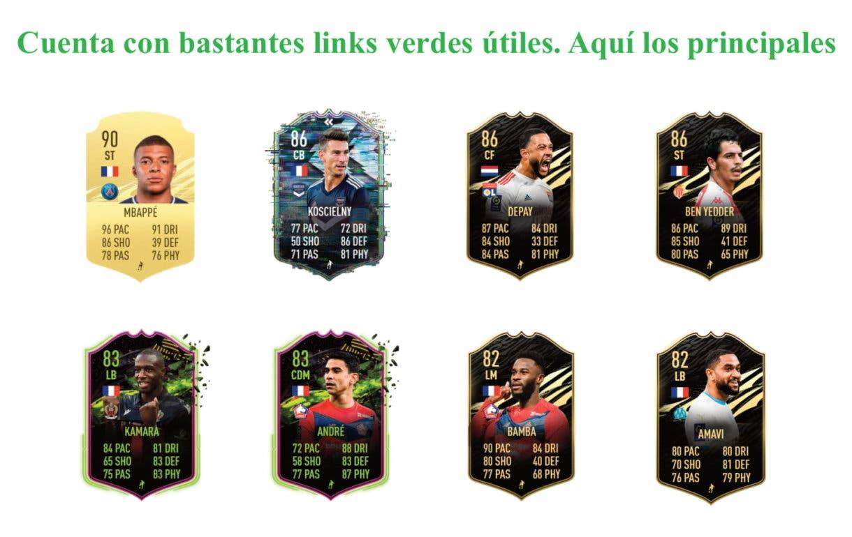 Mollet Jugador de Liga links verdes FIFA 21 Ultimate Team