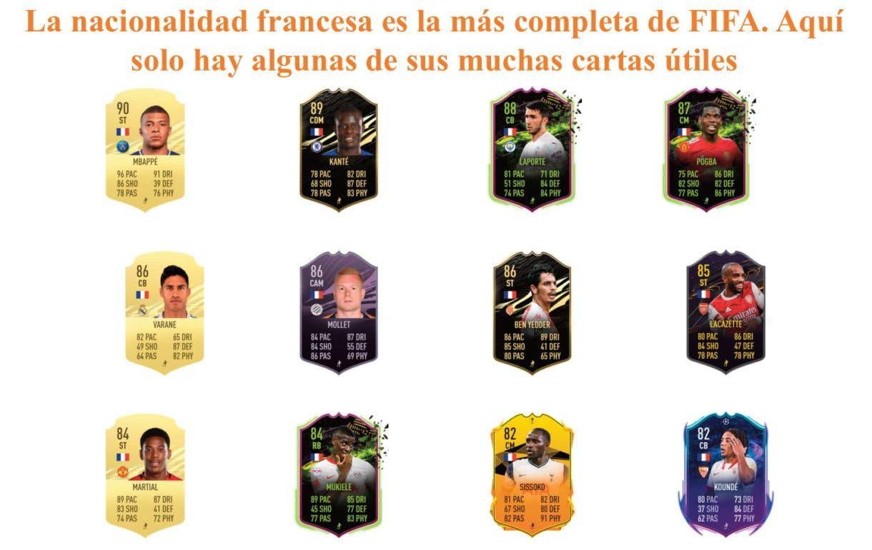 Alessandrini Flashback links naranjas por nacionalidad FIFA 21 Ultimate Team