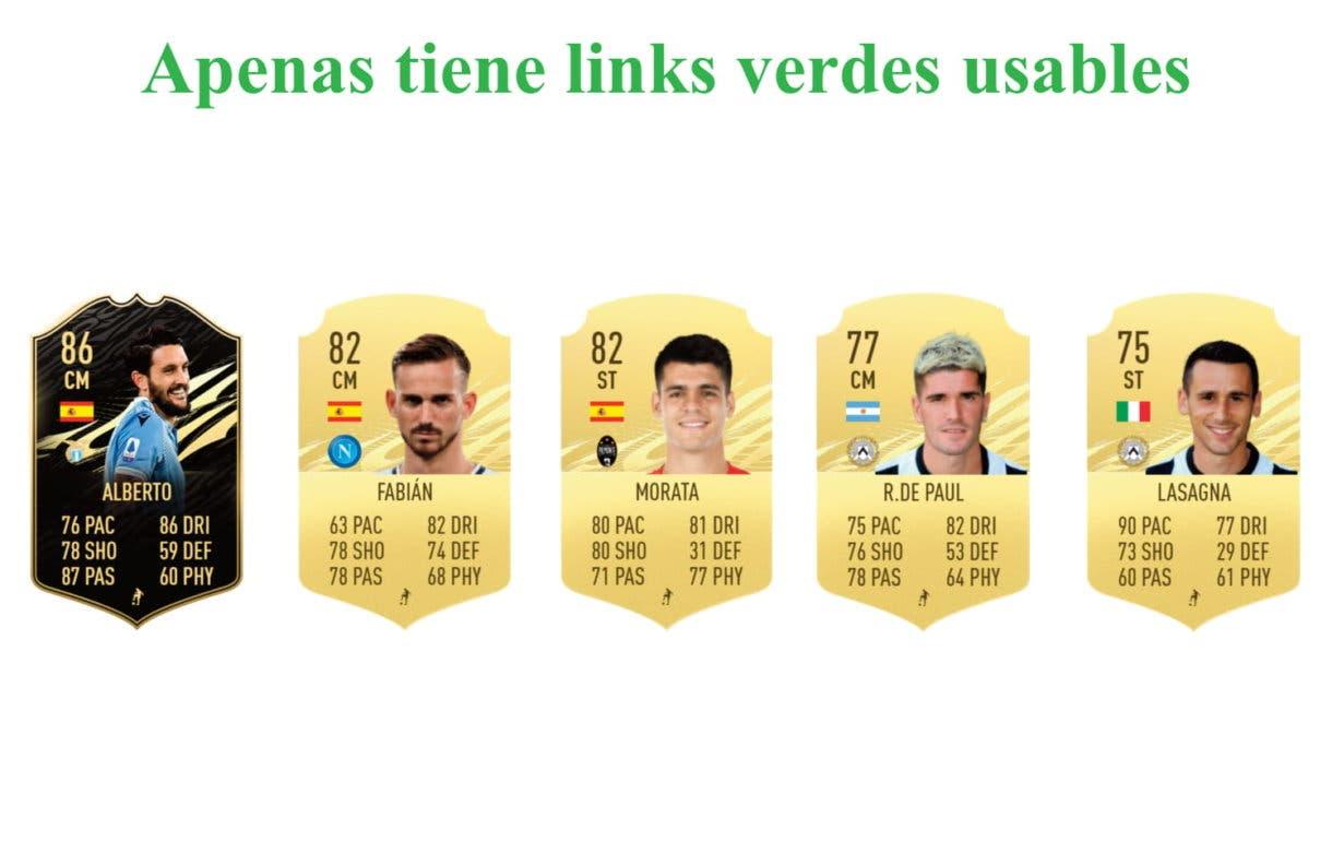 Deulofeu Jugador de Liga links verdes FIFA 21 Ultimate Team