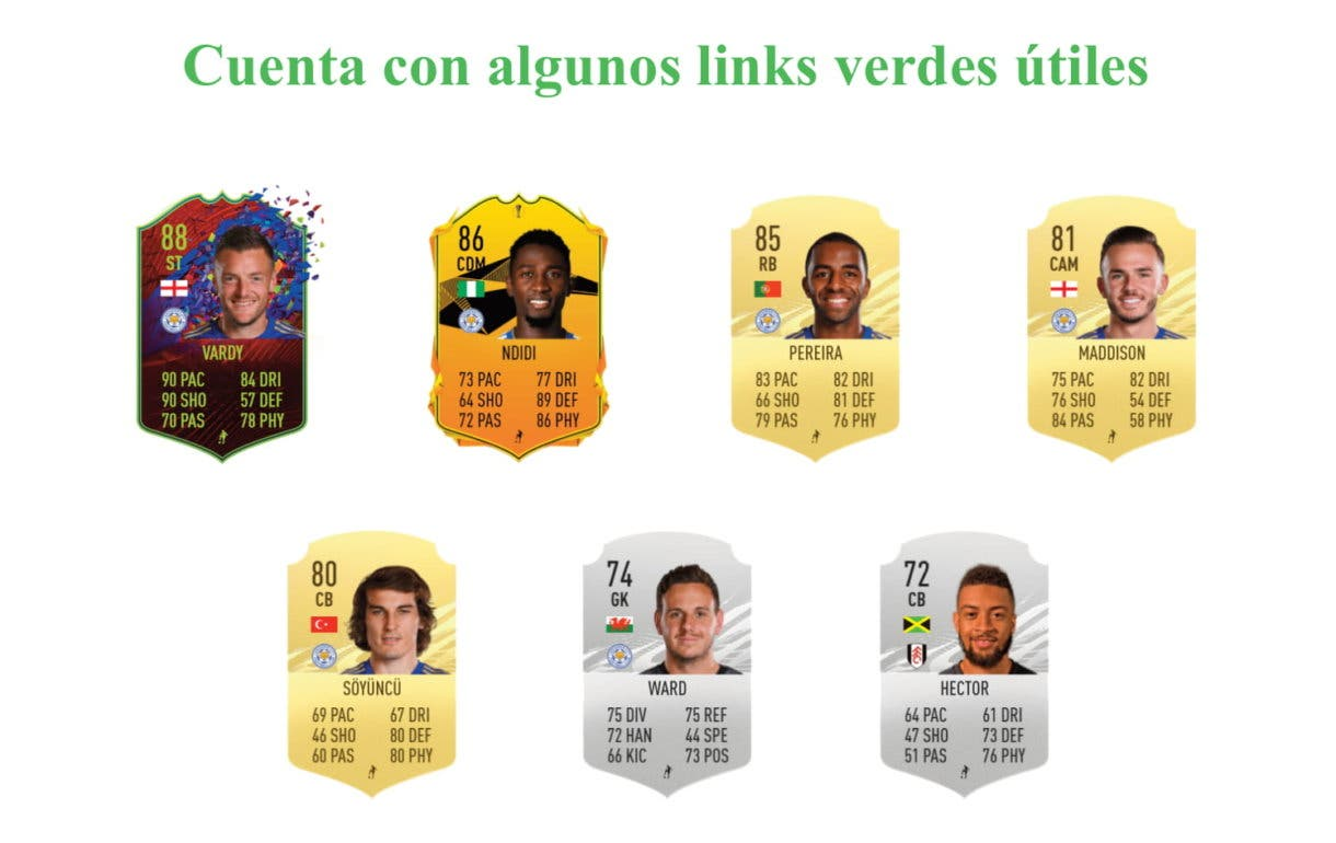 Wes Morgan Moments links verdes FIFA 21 Ultimate Team