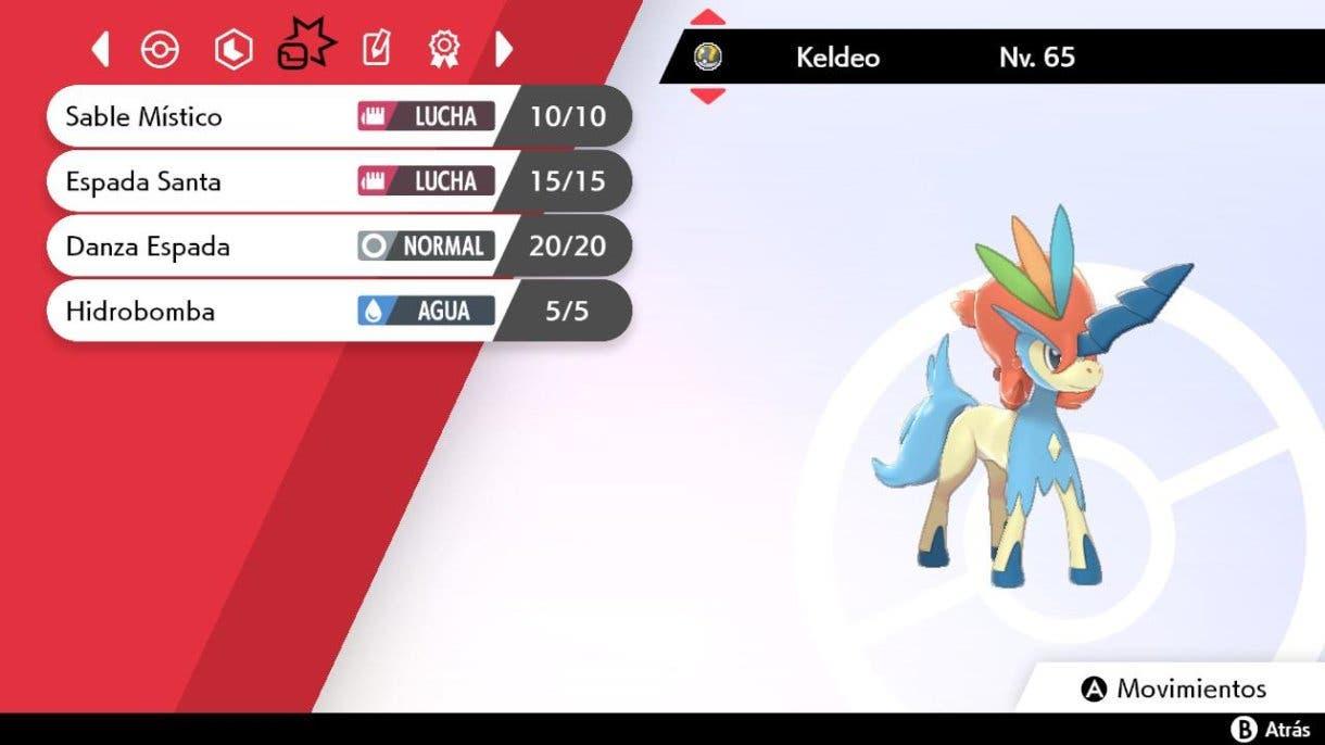 Pokemon Espada y Escudo Keldeo datos