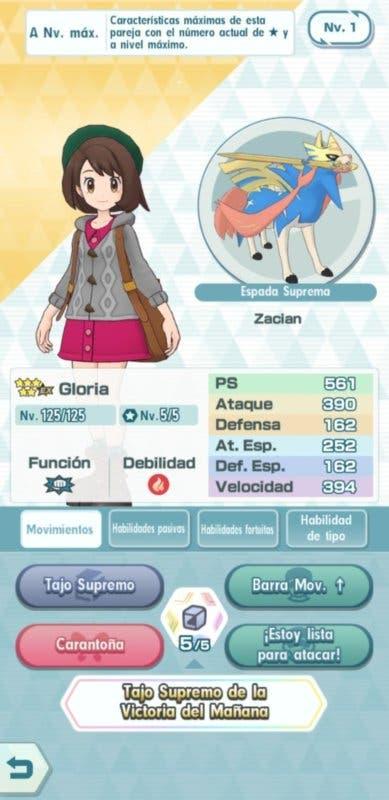 Pokemon Masters reclutamiento Gloria y Zacian