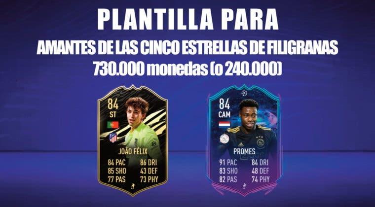 Imagen de FIFA 21: equipo para los amantes de las filigranas por 730.000 monedas (o menos de 240.000) para FUT Champions y Division Rivals