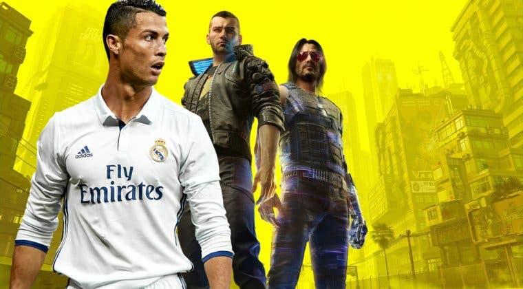 Imagen de Cristiano Ronaldo se cuela en Cyberpunk 2077; el futbolista aparece en carteles dentro del juego