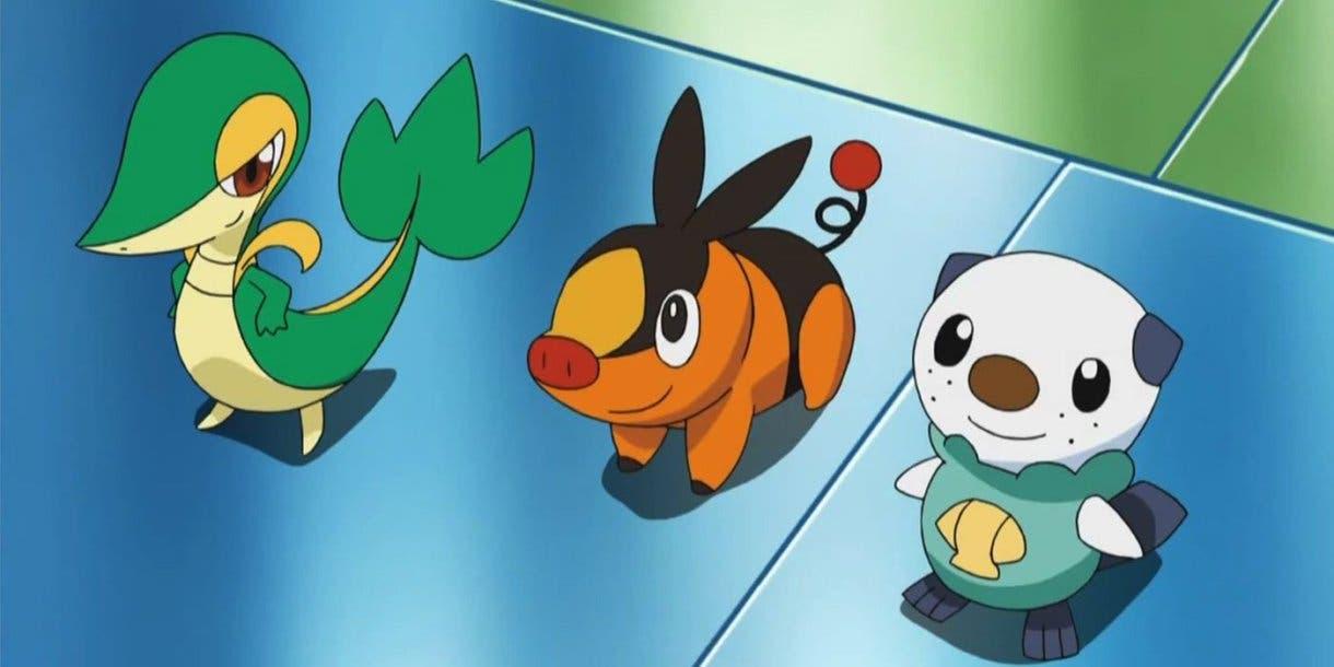 Snivy Tepig Oshawott Pokemon iniciales