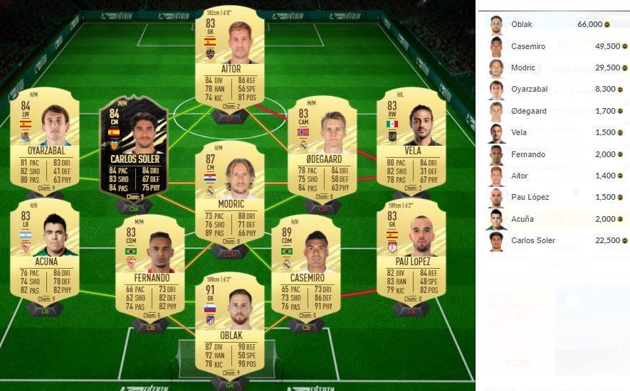 FIFA 21 Ultimate Team Portada Solución SBC Hierro Icono Prime