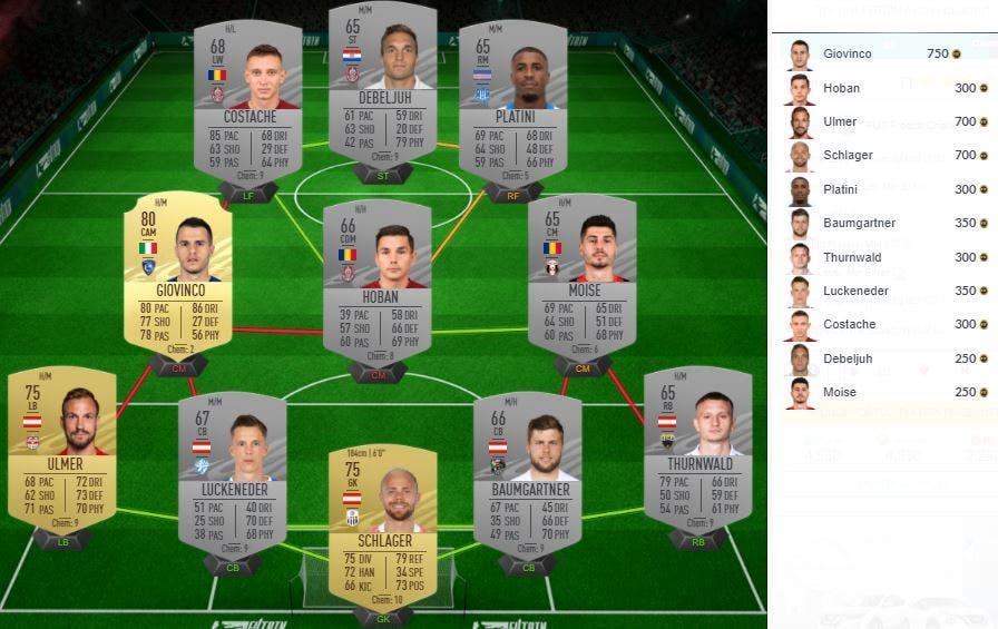 Congelación de DCP de FIFA 21 Ultimate Team
