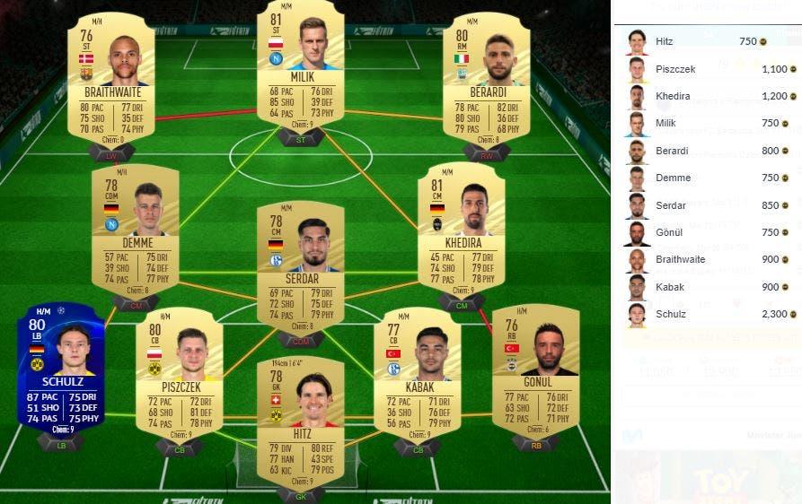 Partidos clave de FIFA 21 Ultimate Team SBC UEFA