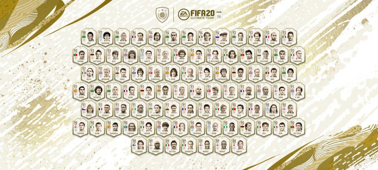 FIFA 21 Ultimate Team qué podemos esperar de FUTMAS Iconos Primer en sobres