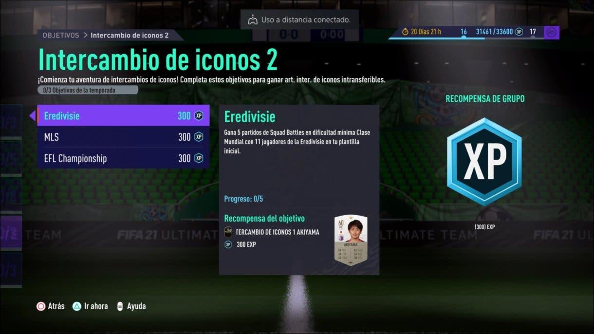 FIFA 21 Ultimate Team Icon Swaps primera tanda tokens desafíos offline