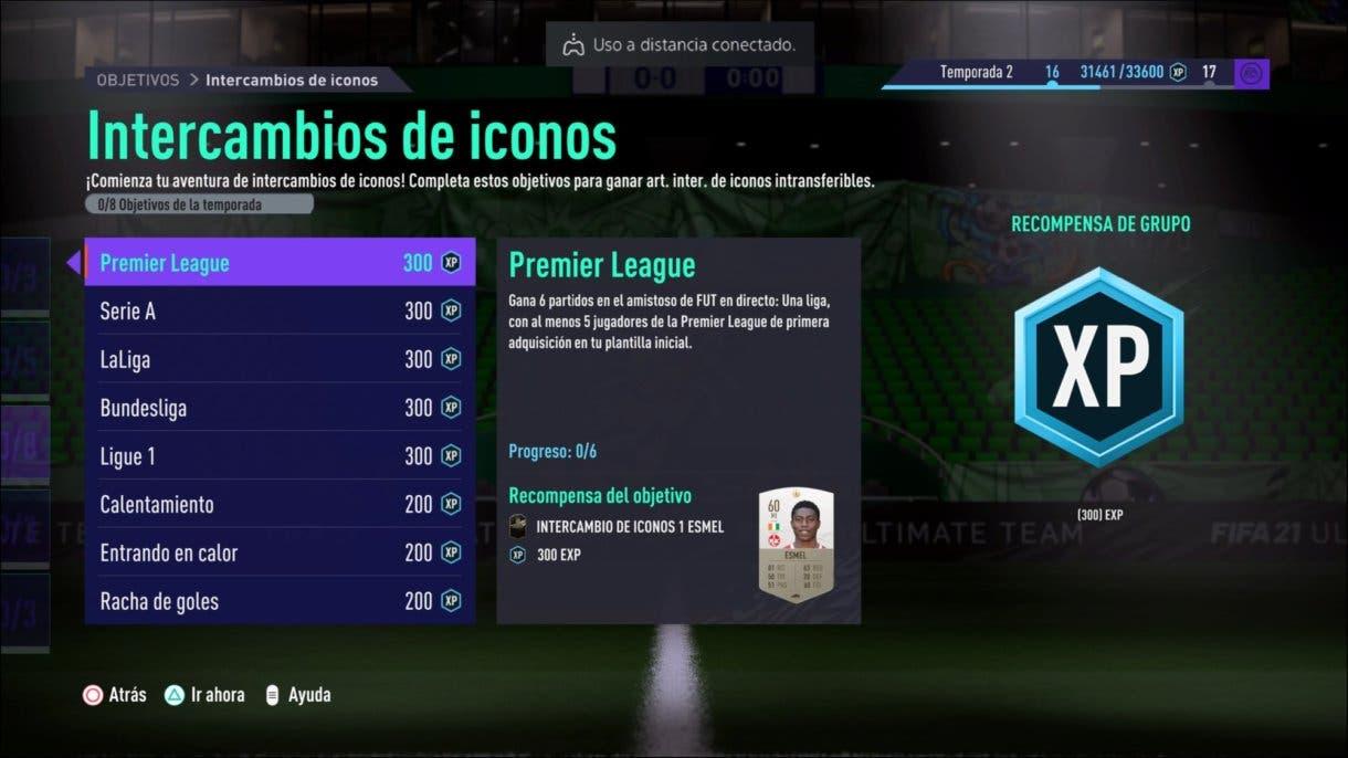 FIFA 21 Ultimate Team Icon Swaps primera tanda tokens desafíos online