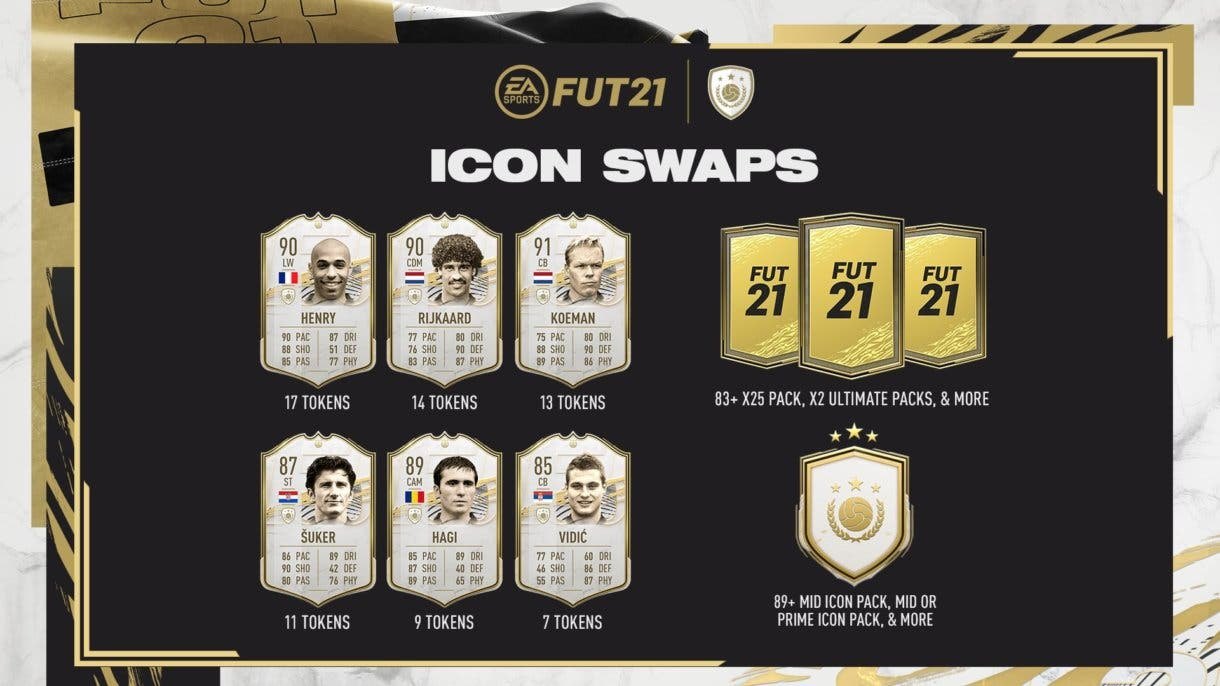 FIFA 21 Ultimate Team Iconos primera tanda Icon Swaps