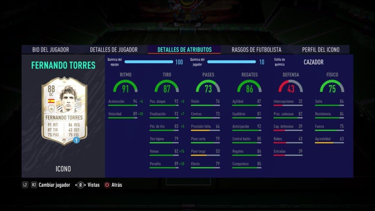 FIFA 21 Ultimate Team Fernando Torres Medio Icono SBC