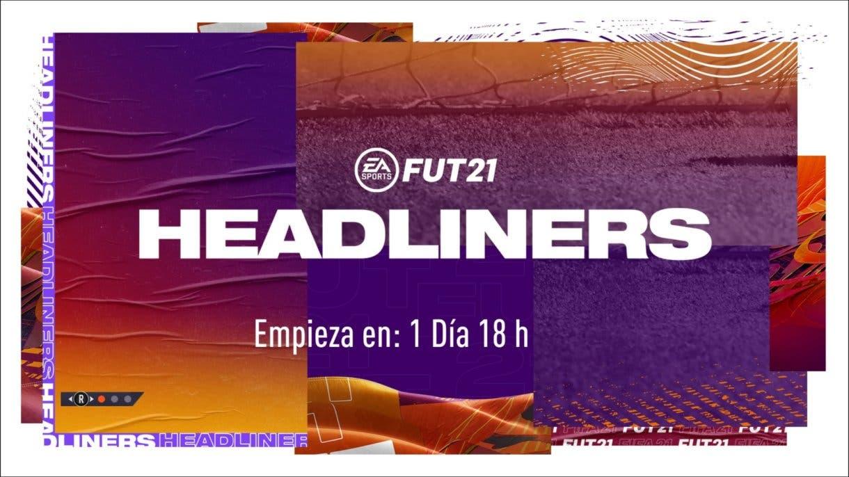 Pantalla de carga del evento Headliners de FIFA 21 Ultimate Team