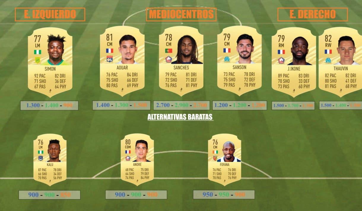 FIFA 21 Ultimate Team Icon Swaps centrocampistas Ligue One