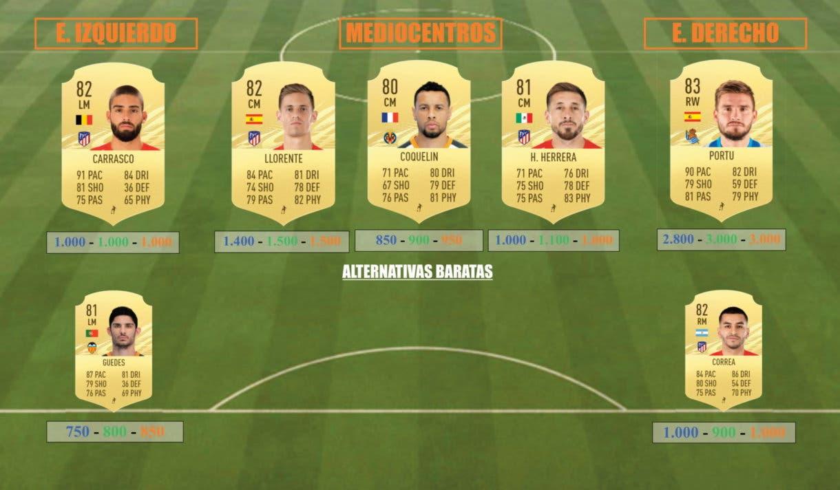 FIFA 21 Ultimate Team Icon Swaps Una Liga Liga Santander equipo tokens online centrocampistas