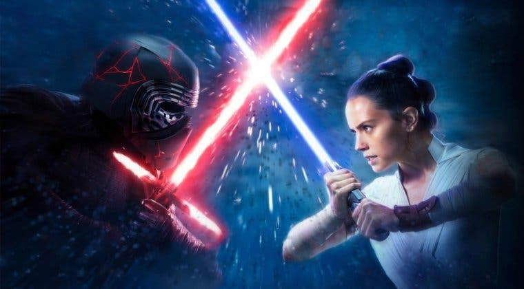 Imagen de Star Wars: un concept art de El Ascenso de Skywalker muestra a Rey y Kylo peleando en Tatooine