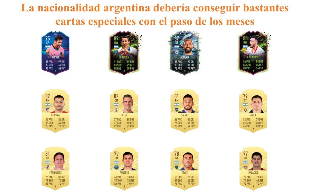 Ansaldi Freeze links naranjas FIFA 21 Ultimate Team