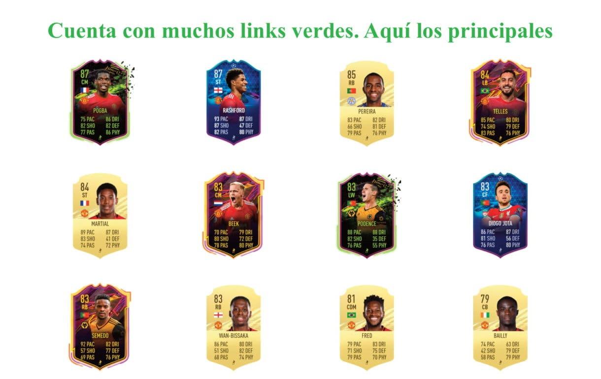 Links verdes Bruno Fernandes POTM FIFA 21 Ultimate Team