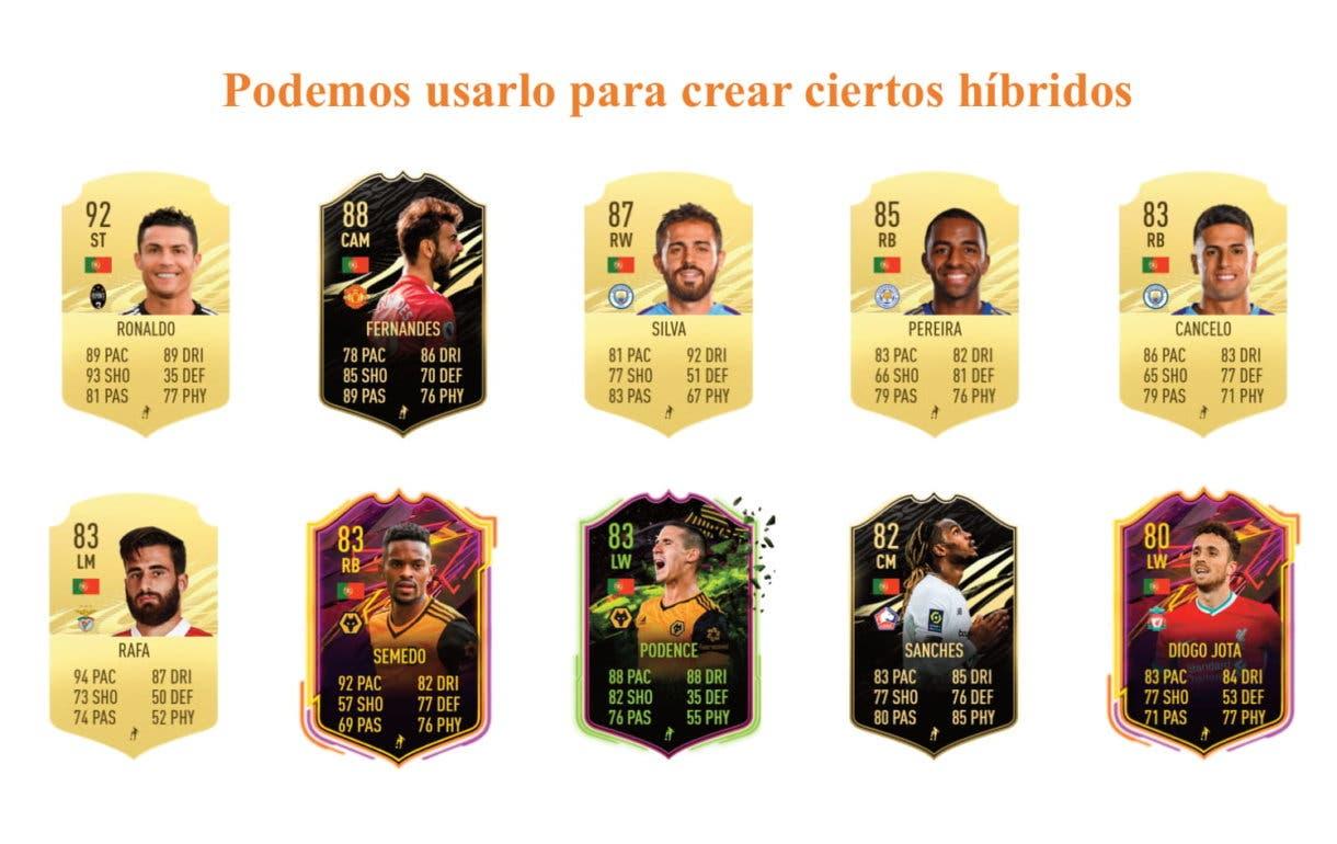 Joao Félix POTM links naranjas FIFA 21 Ultimate Team