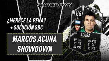 Imagen de FIFA 21: ¿Merece la pena Marcos Acuña Showdown? + Solución del SBC