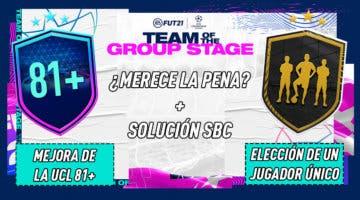 """Imagen de FIFA 21: ¿Merecen la pena los SBC's """"Mejora de la UCL +81"""" y """"Elección de un jugador único""""?"""