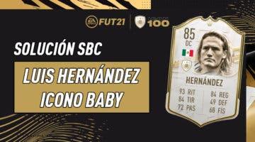 Imagen de FIFA 21: solución al SBC de Luis Hernández Icono Baby