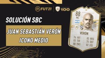 Imagen de FIFA 21: solución al SBC de Juan Sebastián Verón Icono Medio