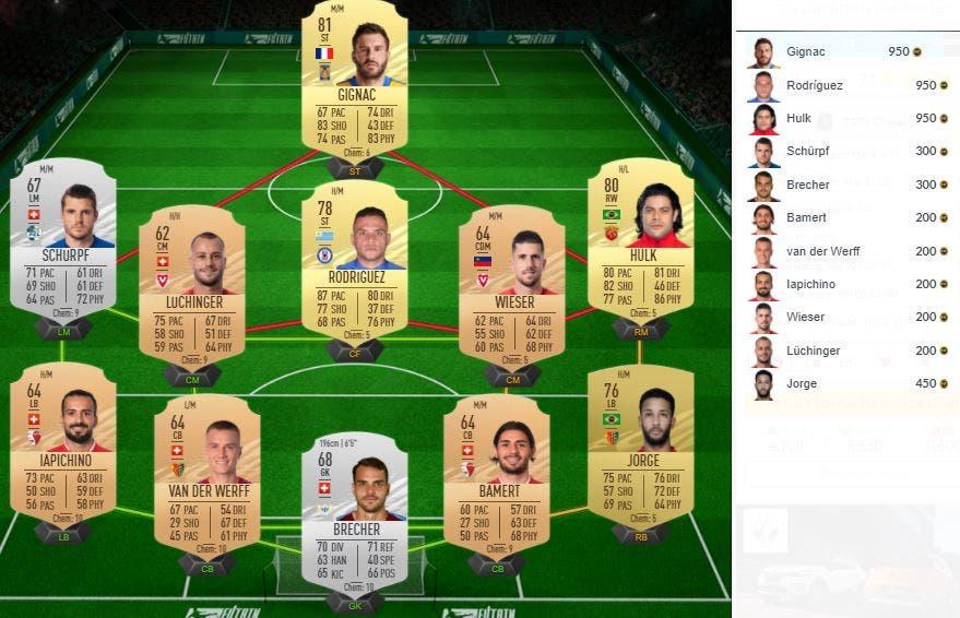 FIFA 21 Ultimate Team SBC Desafío TOTY