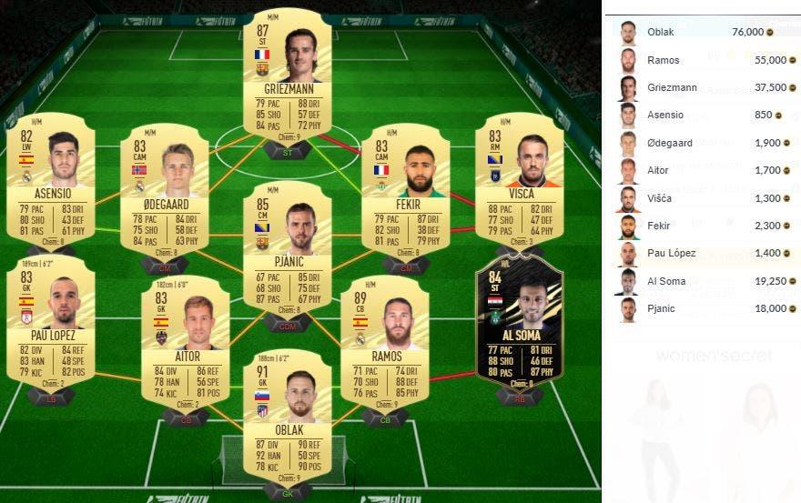 FIFA 21 Ultimate Team SBC Mejora Icono Básico Medio