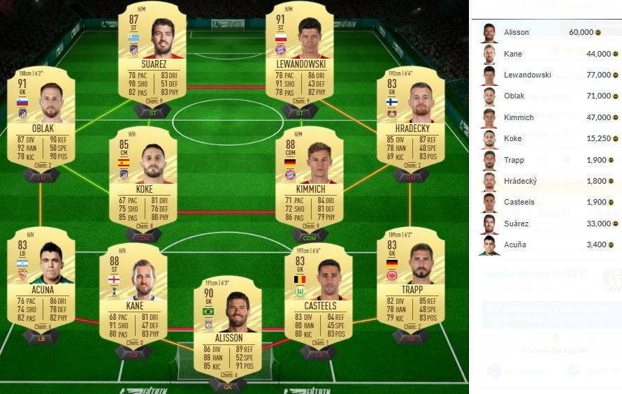 FIFA 21 Ultimate Team Solución SBC Kaká Icono Prime