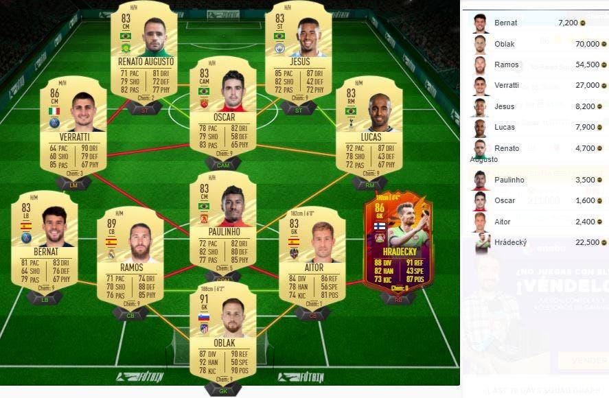 FIFA 21 Ultimate Team Solución SBC Keane Icono Prime