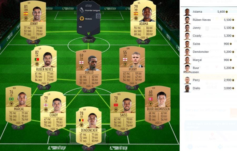 FIFA 21 Ultimate Team SBC de Liga Premier League
