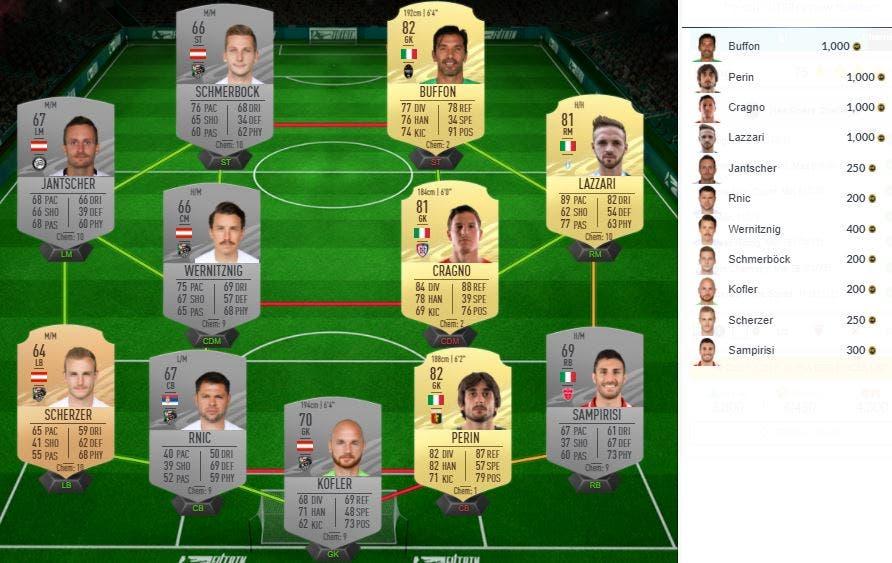 FIFA 21 Ultimate Team Mejora Defensa Centrocampistas Delanteros +82