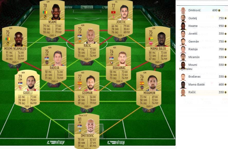 FIFA 21 Ultimate Team Desafío de las estrellas Headliners 05-01-2021
