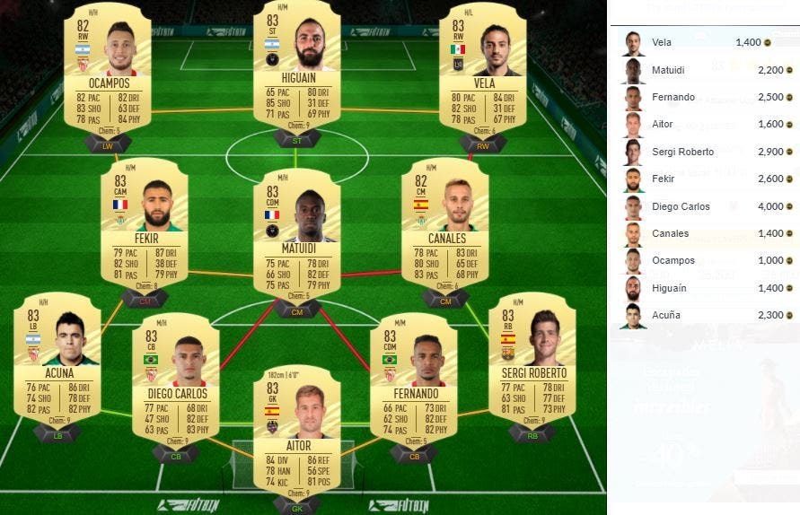 FIFA 21 Ultimate Team SBC Desafío TOTY Mejora delantero 83+