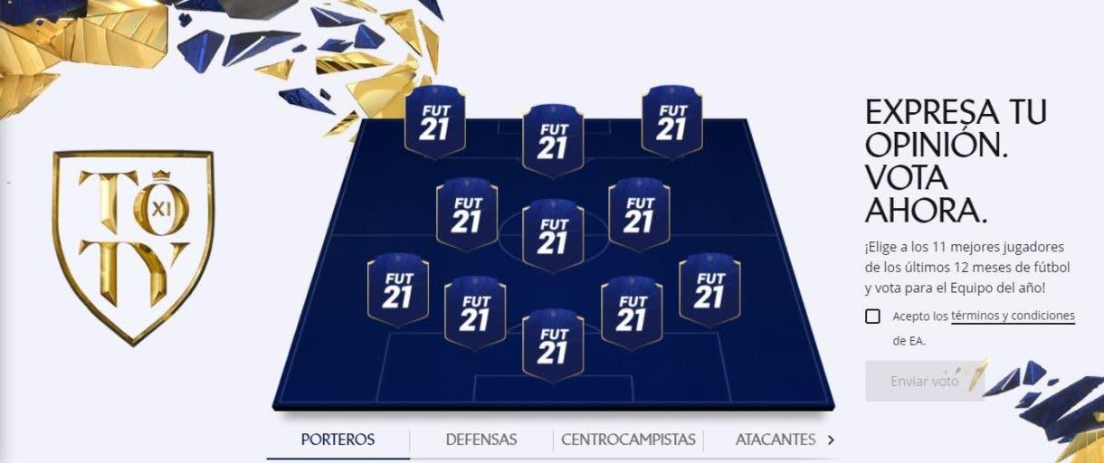 FIFA 21 Ultimate Team Votación Team of the Year TOTY