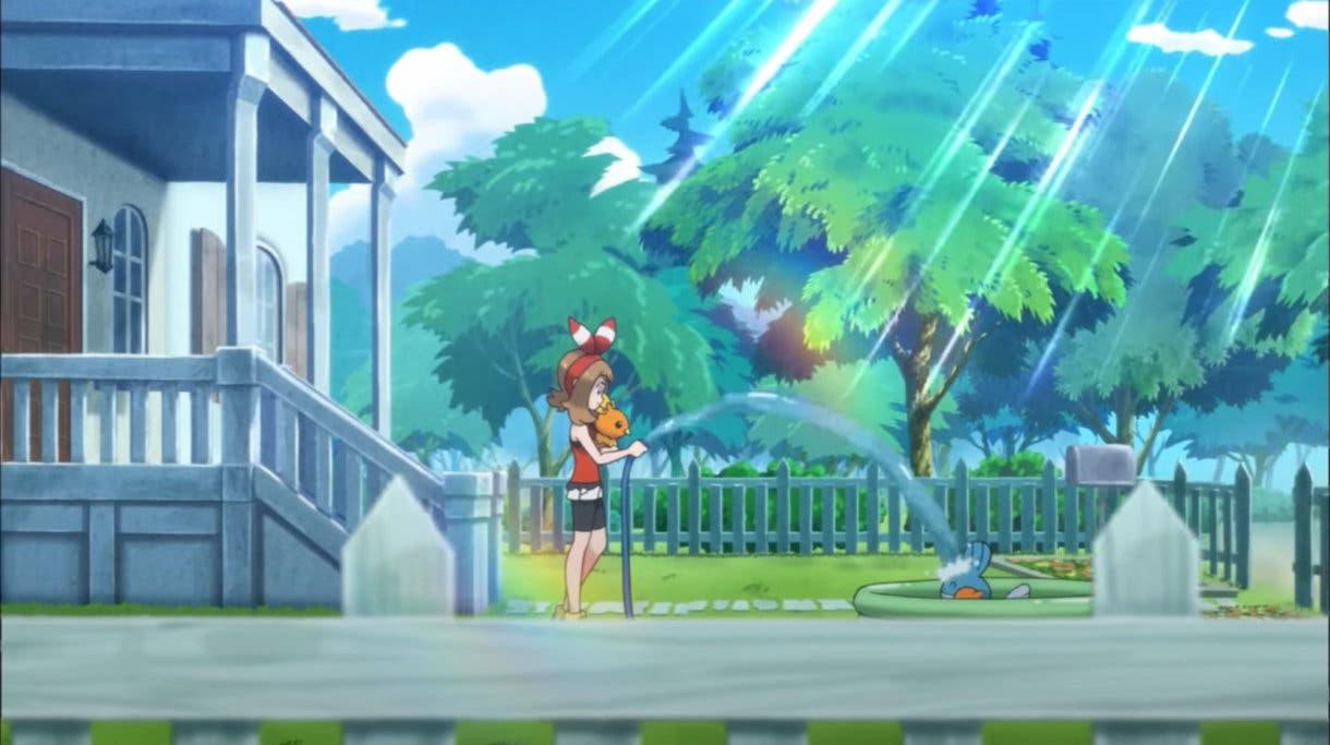 Aura y Mudkip Pokemon Masters EX