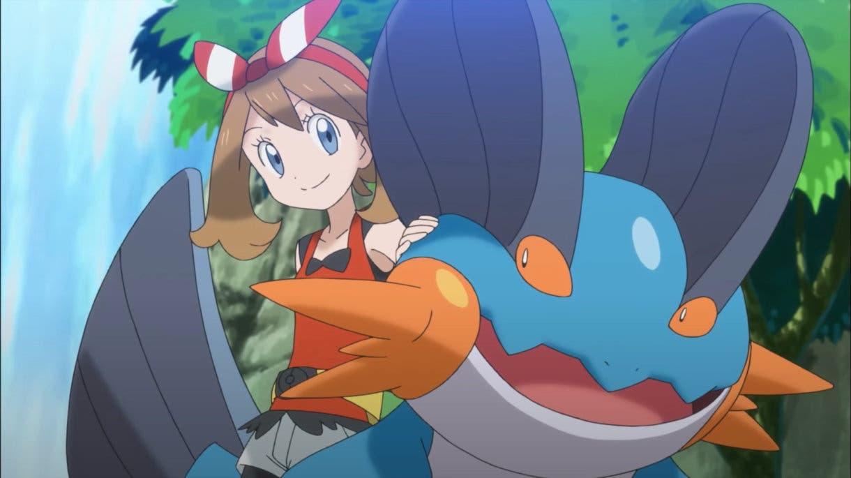 Aura y Swampert Pokemon Masters EX