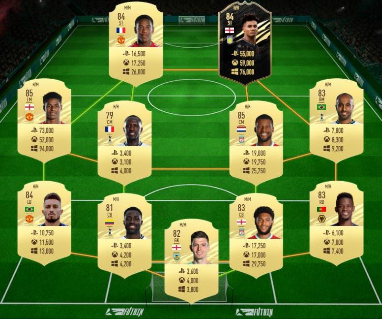 FIFA 21 Ultimate Team. Premier League mejora plantilla/equipo relación calidad precio