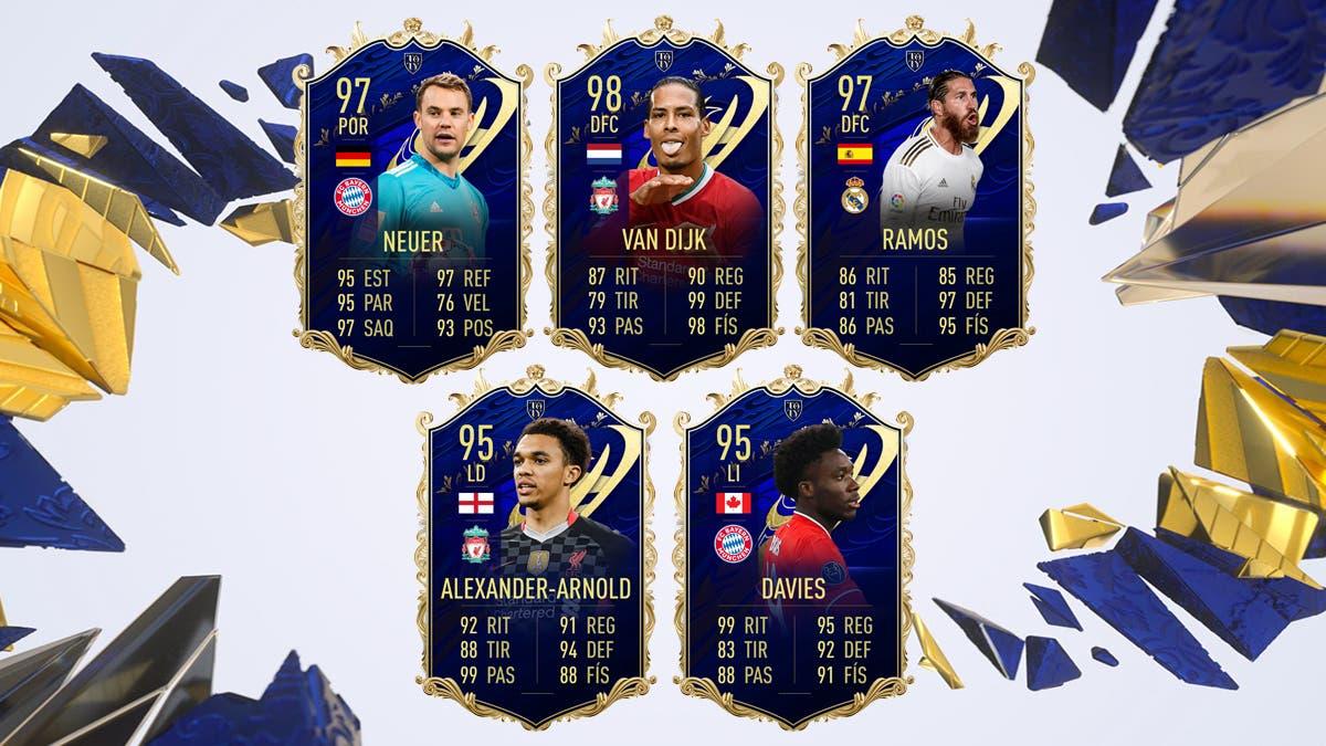 FIFA 21 Ultimate Team Equipo TOTY Rendimiento Defensas