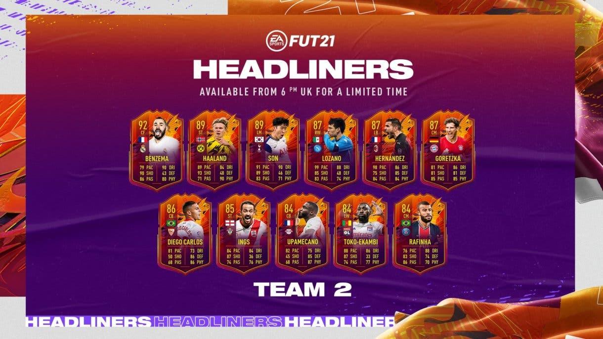 FIFA 21 Ultimate Team Seguimiento Headliners Equipo 2